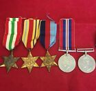 WW2 Medal Group Africa To N Jacobs C302219 Italy 1939-45 Stars Defence War Medal