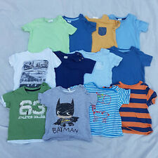 Baby Boys 6-9 Month Short Sleeve T-Shirt's Tops 12 Piece Bundle Next H&M Zara