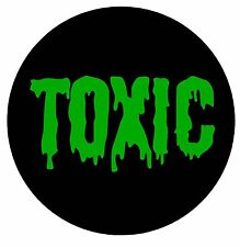 Toxic Black & Green Colored vinyl Decal / Sticker