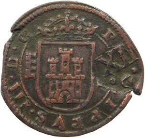 SPAIN 12 MARAVEDIS 1618 1641  #t72 247