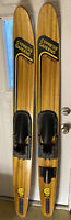 Cypress Gardens Water Skis, Pro Star 1, Vintage Wood Pair, Excellent Condition