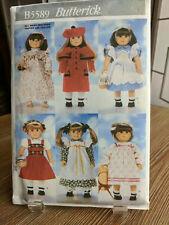 """Butterick 5589 Pattern for 18"""" Dolls, Heidi & Dorothy from Oz Costumes Halloween"""