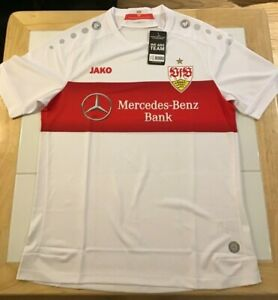 VfB Stuttgart 2019-2020 Home White Jersey Men's Jako M-L-XL New with Tags