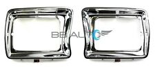 NEW CHROME HEADLIGHT BEZELS TRIM RH LH SET FOR 1978-1979 FORD F150 PICKUP TRUCK