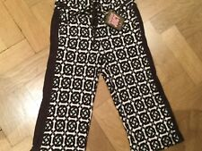 NWT Juicy Couture New & Gen. Brown Crop Leg Cotton Tracksuit Pants Girls Age 8