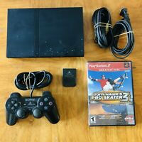 Sony Playstation 2 PS2 Slim  SPCH-77001 W/ Controller, Memory Card & Tony Hawk 3