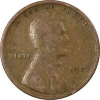 1927 1c Lincoln Wheat Cent Penny US Coin Average Circulated