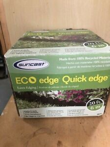 NEW BOX Suncast Quick Edge QE20 Interlocking Landscape Edging  6 Inch Sections