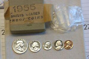 1955 Gem Proof Set w/original box and tissue paper - Very high grade proof coins