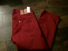 NWT MENS LEVIS 569 0220 RED 36x30 STRETCH DENIM LOOSE STRAIGHT JEANS NEW RARE
