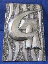 """Old PLAQUE Soviet Union SICKLE AND HAMMER Stamped USSR CREST Russian 46cm=18,4"""""""