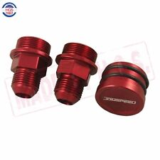 RED Block Plug & Catch Can Breather Fittings For Honda Acura B Series B-Series