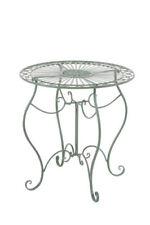 Table de jardin et terrasse verts