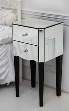 Unbranded Glass Bedside Tables & Cabinets with 2 Drawers