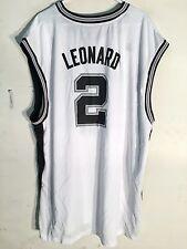 Adidas NBA Jersey San Antonio Spurs Kawhi Leonard White sz 4X