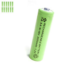 12 pcs AA 2A 3000mAh 1.2V Ni-MH rechargeable battery Solar Light MP3 Toy Green