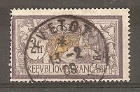TIMBRE FRANCE MERSON N°122 OBLITERE COTE 90 EUROS