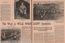 BUFFALO BILL*- THE WAY A WILD WEST SHOW OPERATED-Allen.Barrise,Brazo,Carris,Dix
