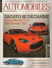 AUTOMOBILES CLASSIQUES 208 ASTON MARTIN V12 ZAGATO ALFA ROMEO TZ3 BUGATTI INCONN