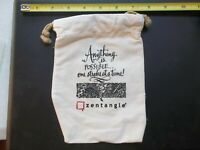 Zentangle Anything Is Possible one stroke at a time small canvas bag
