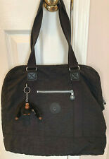 Vintage KIPLING Black Large Double Strap Tote Bag w/ Monkey -  NICE
