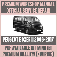*WORKSHOP MANUAL SERVICE & REPAIR GUIDE for PEUGEOT BOXER II 2006-2017 +WIRING