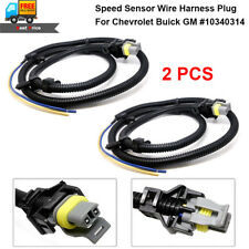 2PCS ABS Wheel Speed Sensor Wire Harness Plug For Chevrolet Buick GM #10340314