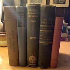 Lot of 5 Vintage Chemistry Books: Principles, Inorganic, Organic, Chemical Bond