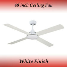 Revolve 48 Inch Ceiling Fan in White
