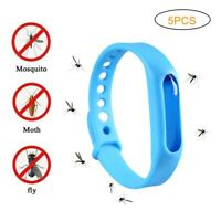 5 Anti Mosquito Repellent Bracelet Wristband Bands travel Mozzie Insect Camping
