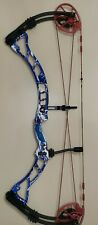 """Obsession Archery Addiction Obb Patriot Red White Blue 3D Target Bow 28""""/Rh/60Lb"""