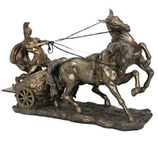 Bronze Finish  - Large Roman Chariot Statue Sculpture Figurine FATHERS DAY GIFT