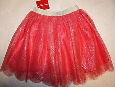 Hanna Andersson Girls Soft & Shimmery Tulle Skirt 120 Pink NWT