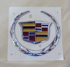 K-O4S New Cadillac Escalade ST DT LR AT XT Grille/Rear trunk wreath Emblem Badge