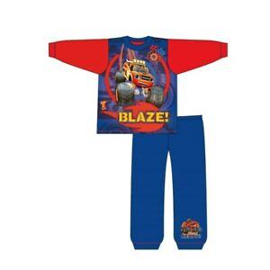 Boys Blaze Pyjamas Kids PJs Nightwear 18 Months to 5 Years Long Sleeve Blue Red