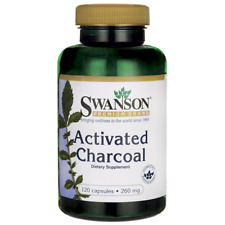 Swanson Activated Charcoal 260 mg 120 Caps