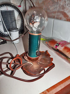 Outstanding Working C1940 Copper Lead Base AEROLUX Floral Filament Light Bulb