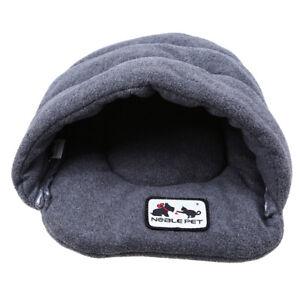 Pet Dog Cat Nest Bed Puppy Soft Warm Cave House Winter Sleeping Bag Mat Pad Home