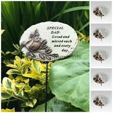 Memorial Bronze 3D Bird Stick Stake Pick Plaque Tribute Graveside Ornament