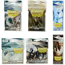 DRAGON SHIELD SLEEVES PERFECT FIT CLEAR SMOKE STANDARD SIZE SLEEVES POKEMON MTG