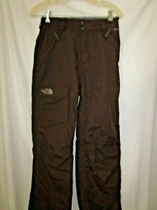 The North Face White Hyvent Brown, Lined, Girls Ski Snow Pants L/G (JE)