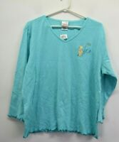NWT Disney Store Women's XL V-Neck Long Sleeve Winnie Pooh Sleepwear Shirt