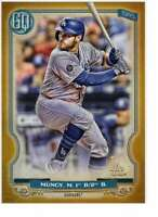 Max Muncy 2020 Topps Gypsy Queen 5x7 Gold #202 /10 Dodgers