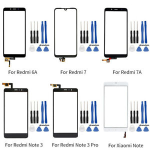 Touch Screen Outer Front Glass For Xiaomi Redmi 6A 7 7A Note 3 Mi Note + Tools