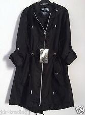 LADIES BLACK PARKA IN A POCKET Pac A Mac Rain Coat Jacket Primark UK 6-20