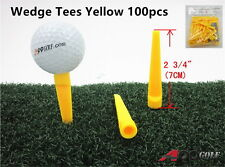 100pcs A99 Golf Wedge Tee Yellow New
