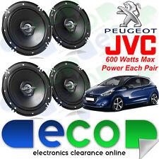 Peugeot 208 2012 On JVC 17cm 1200 Watts 2 Way Front & Rear 3 Door Car Speakers