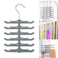KQ_ BL_ Fishbone Necktie Tie Belt Hanger Rack Shawl Scarf Clip Holder Organizer