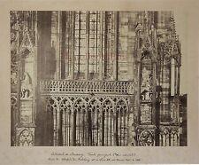 Façade de la Cathédrale de Strasbourg France Vintage albumine
