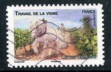 TIMBRE FRANCE AUTOADHESIF OBLITERE N° 822 / FAUNE CHEVAUX DE TRAIT DE NOS REGION